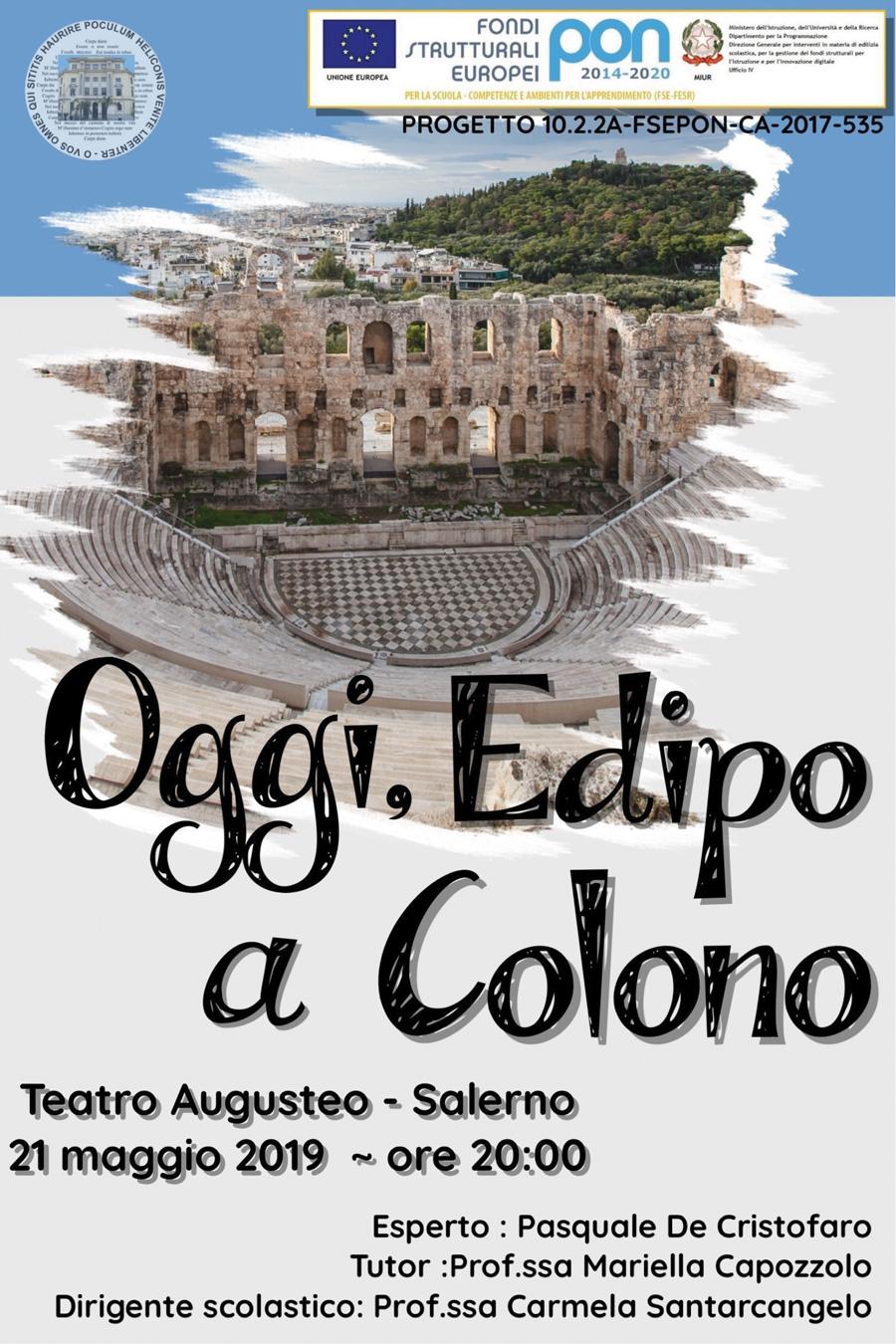 Laboratorio Teatrale: Teatro Augusteo, Salerno. 21/5/2019 ore 20:00